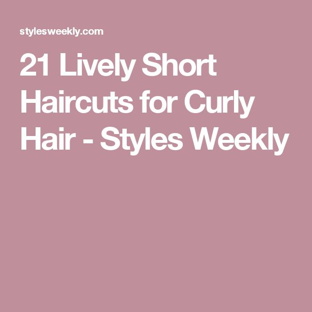 21 Lively Short Haircuts for Curly Hair - Styles Weekly