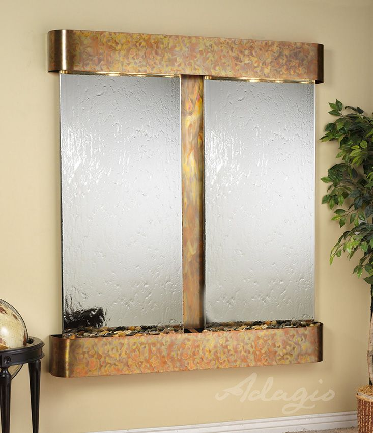 Indoor Wall Water Features   Cottonwood Falls Mirror Wall Water Feature