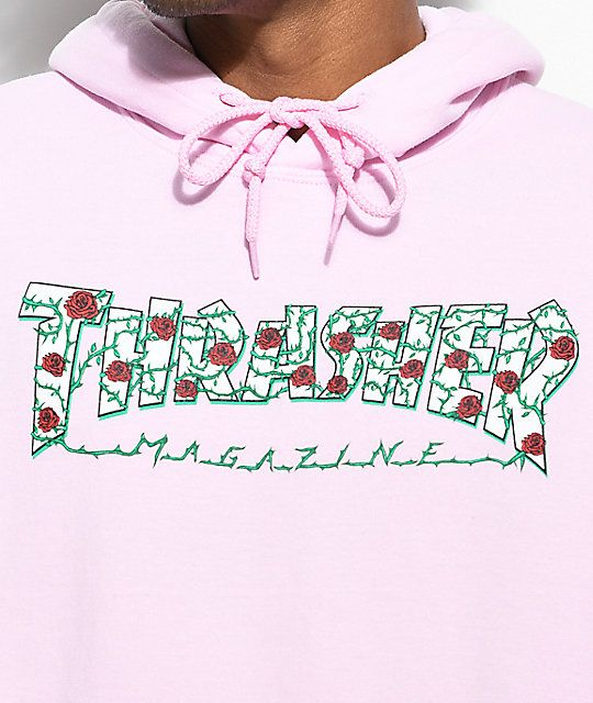 09ce37656f89 Thrasher Roses Pink Hoodie Classic brand new dope design follow me on  instagram  superduperjoi and art channel  datjoi  instagram.com superduperjoi ...
