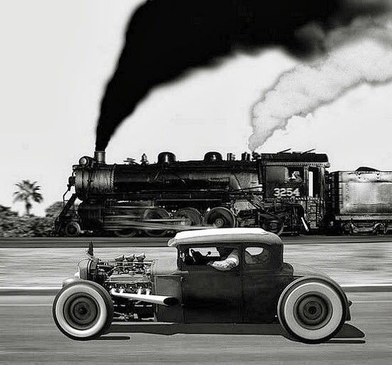 Beautiful Rat Rod in B & W