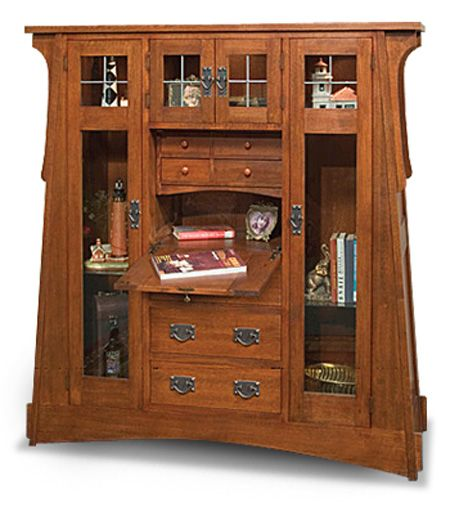28 best images about craftsman mission style on pinterest for Craftsman style bookcase plans