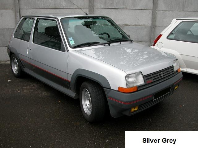 Renault 5 GT Turbo Phase 1 Silver Grey