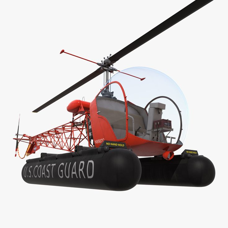 Bell 47 On Floats 3d model