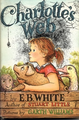 """The novel tells the story of a pig named Wilbur and his friendship with a barn spider named Charlotte. When Wilbur is in danger of being slaughtered by the farmer, Charlotte writes messages praising Wilbur (such as """"Some Pig"""") in her web in order to persuade the farmer to let him live."""