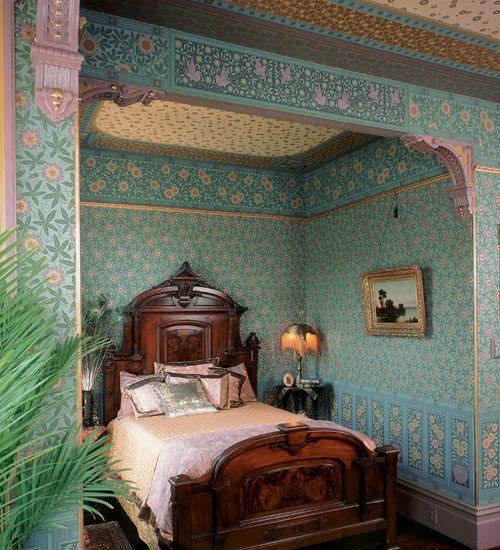 Bradbury & Bradbury Art Wallpapers > Victorian > The Aesthetic Movement > Herter Brothers Tradition Roomset. (Herter Brothers Catalog: http://www.bradbury.com/herter_browse.html)