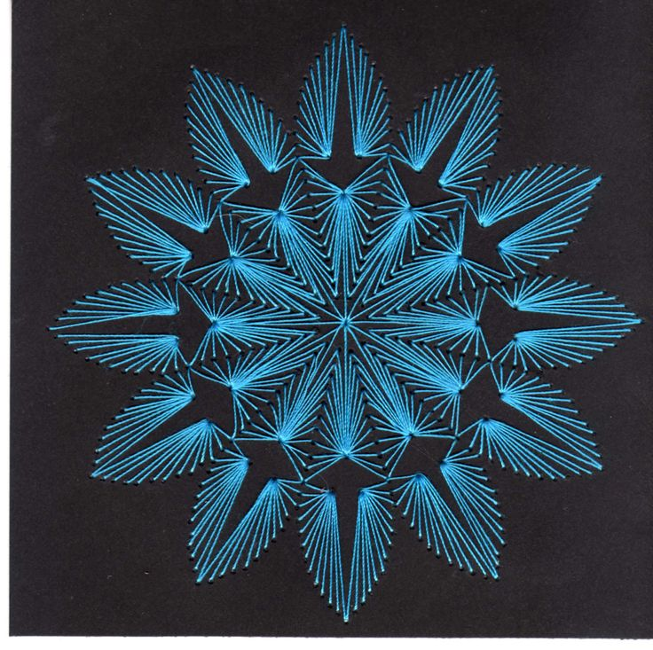 Black and blue stitching card
