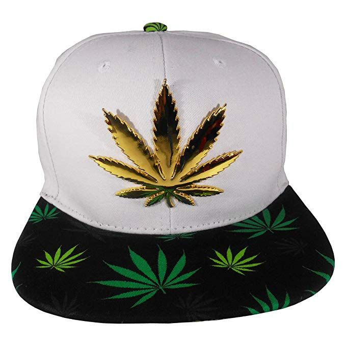 9bf4eb8c824e8 Cap2Shoes Men s Marijuana Metal Weed Leaf Snapback One Size Green at Amazon  Men s Clothing store