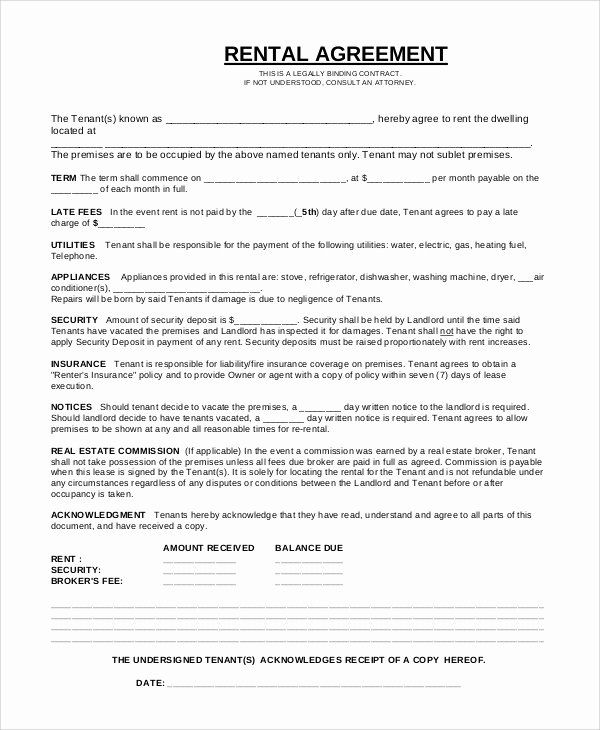 Simple Equipment Rental Agreement Template Free Inspirational Simple Equipment Rental Agreement Te Rental Agreement Templates Lease Agreement Contract Template