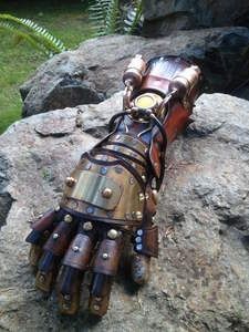 I WANT TO GO TO THERE.    Steampunk Legend of Korra equalist glove