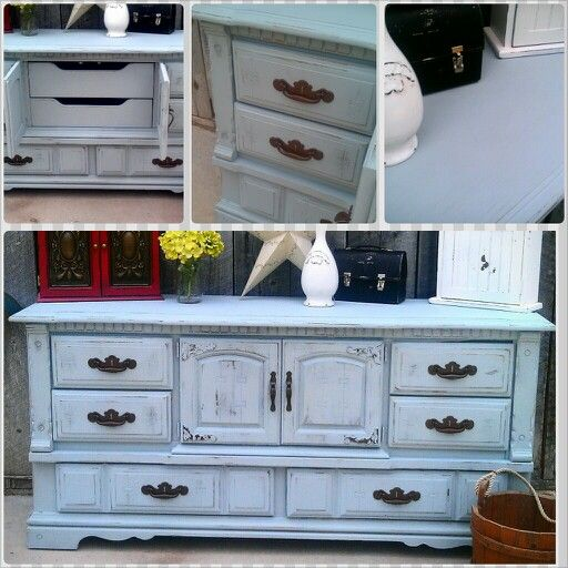 Vintage blue buffet by Maggie Pies Reclaimed furniture