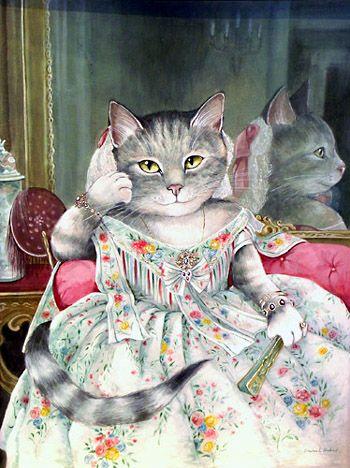 Susan Herbert--Cat Art