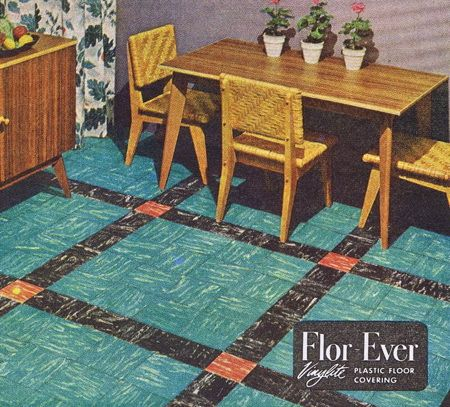 22 best home dreams vintage linoleum images on pinterest for Vintage linoleum flooring