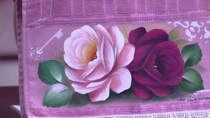 Mulher.com - 26/11/2015 - Pintura de rosas - Ana Laura Rodrigues PT2