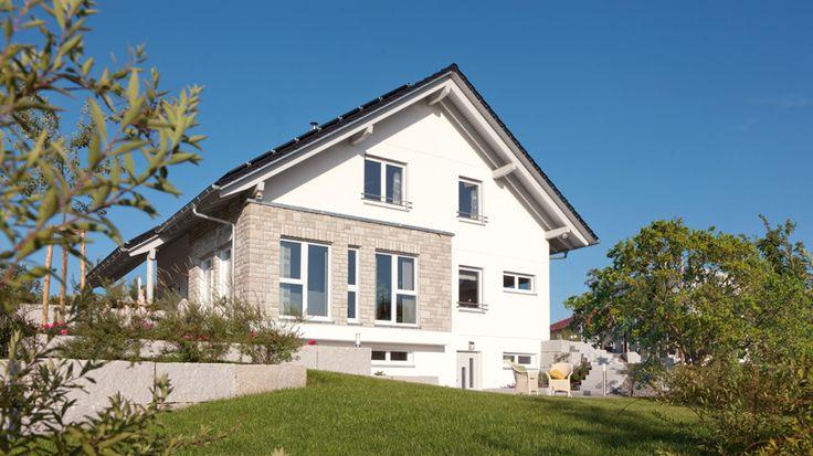 Schwörer-Haus mit Teil Putz- und Steinfassade