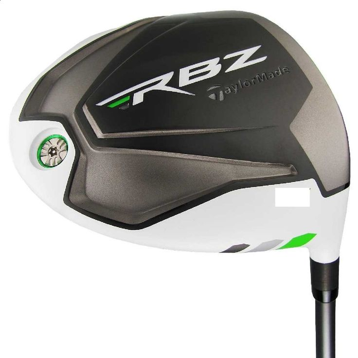 Speed-enhancing head aerodynamics on these mens RBZ bonded hosel golf drivers by Taylormade promotes haster head speed for more distance