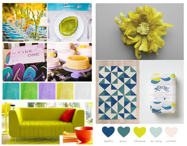 It's not green, it's not lime…it's playful Chartreuse; the hue of colour you can't ignore and one that definitely gets the party started. Chartreuse is friendly because it plays well with so many other colours – cream, grey, lemon, purple, peach, pink, turquoise, navy, orange. What a party animal!  #chartreuse #party #partyideas #birthday