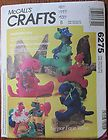 McCALLS CRAFT PATTERN 6275 DINOSAUR DOLLS 10 15 21.5 AND CLOTHES - 10quot, 15quot, 21.5quot, 6275, clothes, craft, dinosaur, dolls, McCall's, patternClothes Crafts, 6275, Felt Crafts, Crafts Pattern, Crafts Projects, Thursday Jun 20 2013, Mccall Crafts, Fun Crafts, Clothing Crafts