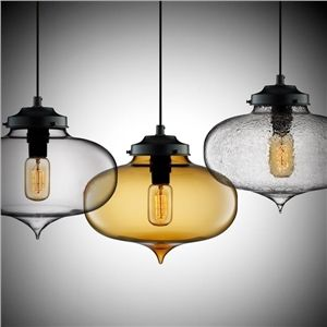 Ceiling Lights - Pendant Lights - Modern Transparent Glass Pendant Light in Bubble Design - $85