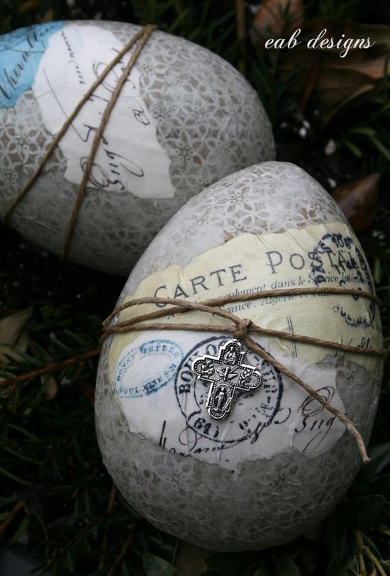 French/Nordic Inspired Easter Eggs
