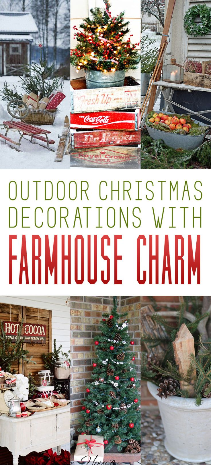 Christmas decor of the twin cities - Outdoor Christmas Decorations With Farmhouse Charm