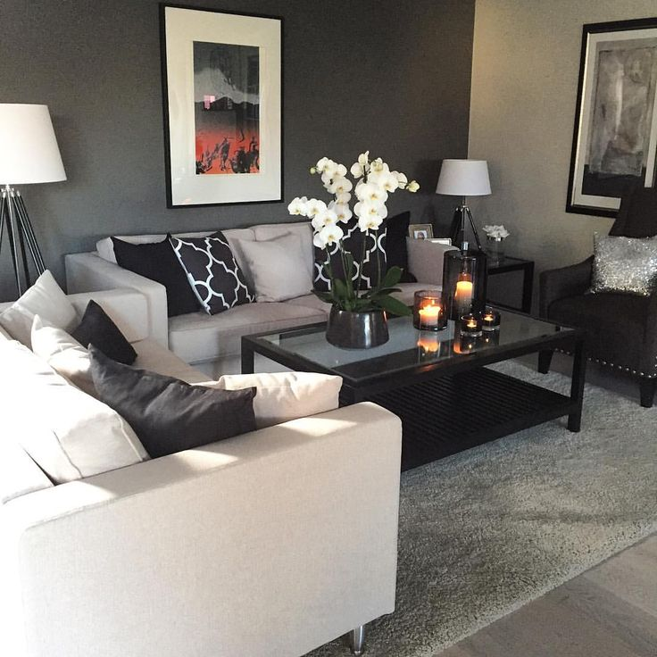 Rich Gray And Soft Cream With Hints Of True Black And · Cream Living RoomsApartment  ... Part 36