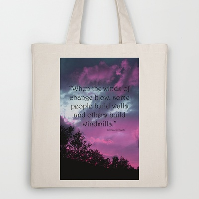 Wind of Change Tote Bag by Angela Bruno - $18.00