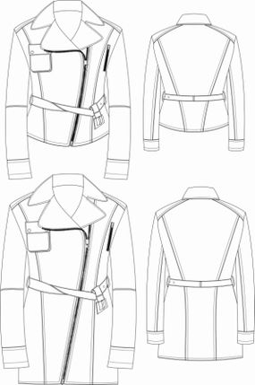 Fashion technical drawing