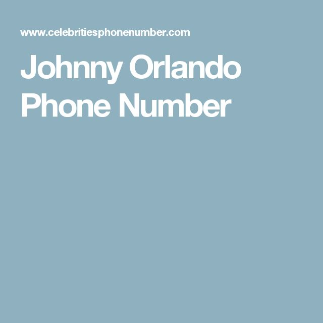 Famous People Cell Phone Numbers