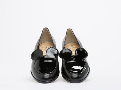 Minna Parikka Mousey Flats in Black at Solestruck.com