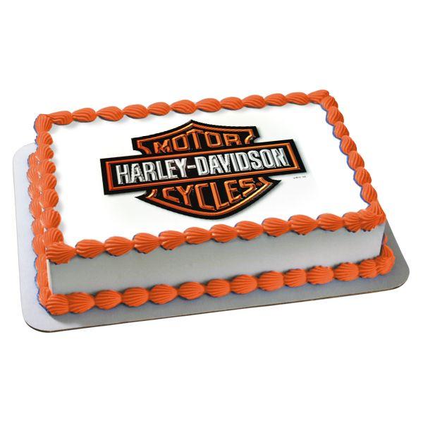 harley davidson cakes pictures | Harley-Davidson Edible Image Cake Decoration, FREE shipping offer, 50% ...