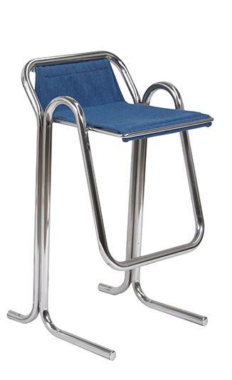 Jerry Johnson; Chromed Tubular Metal U0027Acadiau0027 Bar Stool For Landes  Manufacturing, ...
