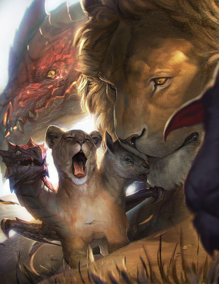 Quimera Una bestia con 3 cabezasde carnero otra de león y la mas peligrosa de dragon estas pueden o no tener una serpiente por cola tener alas o no  Peligro 10
