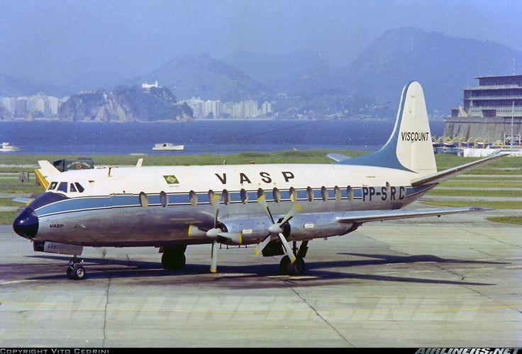 VASP-Viscount-PP-SRC Aeroporto Santos Dumont (SDU / SBRJ) Rio de Janeiro. Foto Vito Cedrini