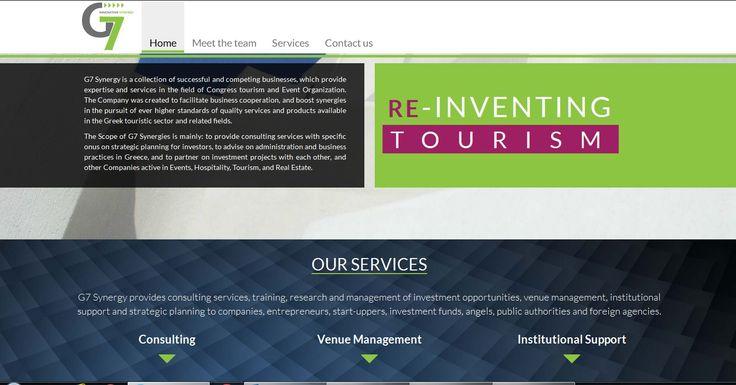 Η G7 synergy μας εμπιστεύτηκε για την κατασκευή του λογοτύπου και της ιστοσελίδας της http://www.g7synergy.com . Δείτε δείγματα εργασιών μας εδώ http://goo.gl/bwYV0y.