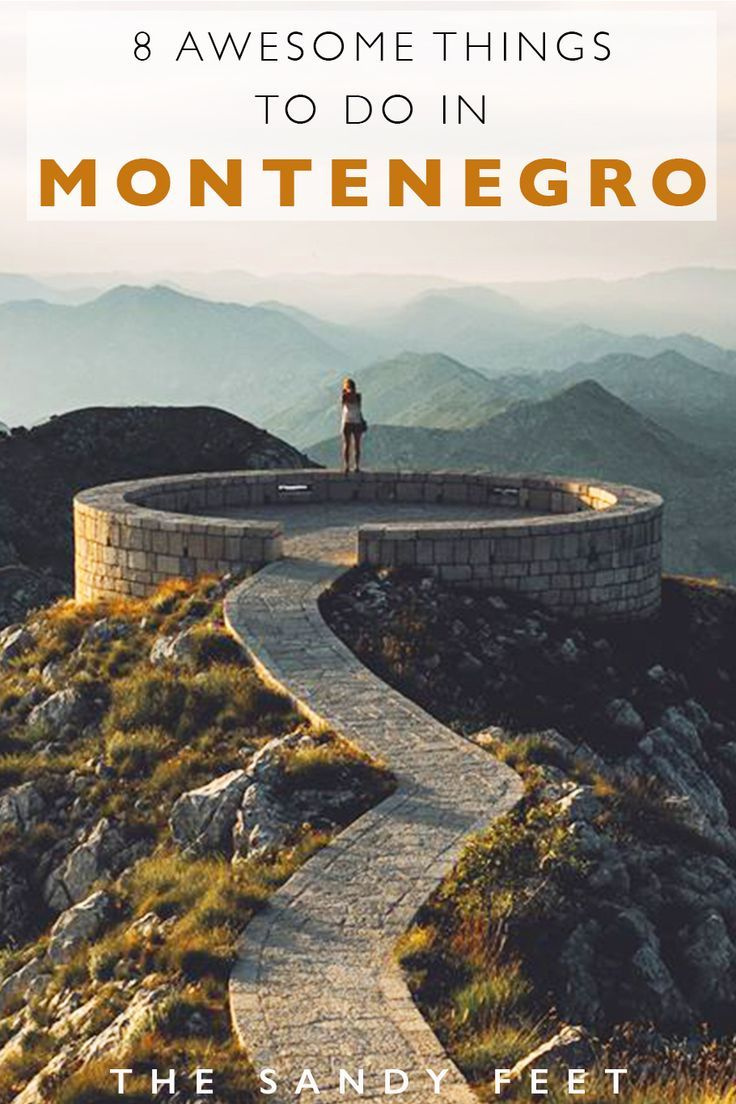 8 Adventurous Things To Do In Montenegro: All The Best Places To Visit In Montenegro Including Durmitor National Park, Lovcen National Park, Kotor, Adriatic Beaches, Rafting Tara River and more! #travel #montenegro #summer #roadtrip #balkans #europe
