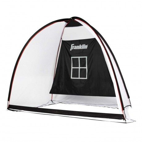 All Sport Backstop and Target Net - Franklin's All Sport Soft-Toss Backstop & Target Net is perfect for baseball, softball, soccer and lacrosse. The heavy-duty, all-weather net can withstand the impact of all kinds of sporting balls and is great for backyard use. Featuring a center target kids can practice their passing or shooting accuracy with ease and the included ground stakes give this backstop extra stability on any lawn or field. - See more at: http://franklinsports.com/shop