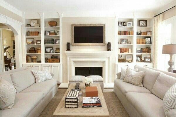 Family Room Design With Tv Over Fireplace Smallroomdesign Livingroom Layout Narrow Living Room Family Room Layout