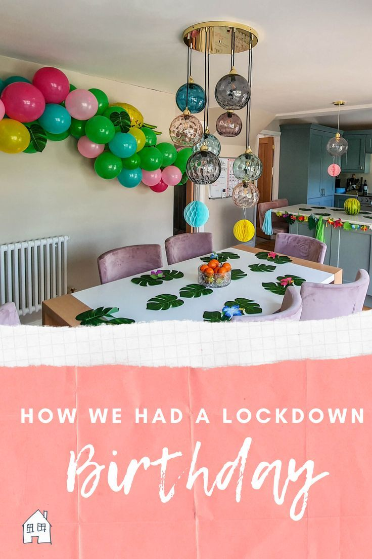 Happy 11th Lockdown Birthday in 2020 Space theme party