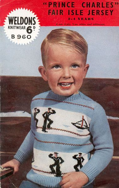 Vintage sailor/nautical motif jumper