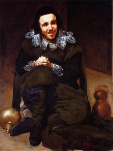 "Besides the royal family, Velazquez also painted jesters and clowns of the court, such as ""The Buffoon Calabacillas"""