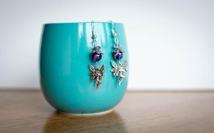 A personal favorite from my Etsy shop https://www.etsy.com/ca/listing/458193744/purple-fairy-earrings