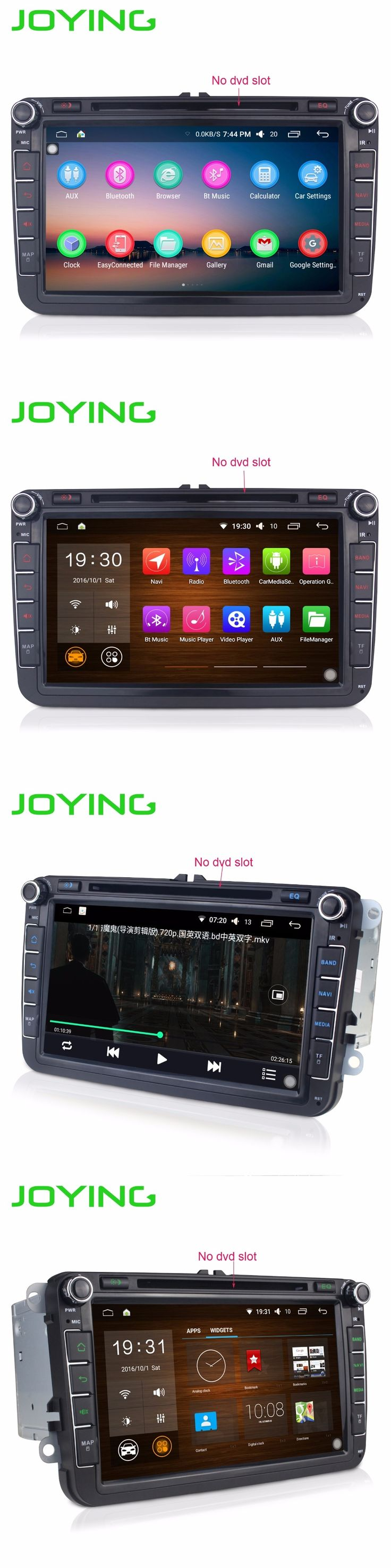 """JOYING 2GB+32GB Android 5.1  Double 2 DIN 8""""  For VW Volkswagen Touran Car Radio Stereo Quad Core Head Unit Support PIP OBD DVR"""
