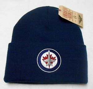 Winnipeg Jets Blue Beanie Hat - NHL Cuffed Winter Knit Toque Cap by American Needle. $9.90. Keep warm and show your NHL team pride with this stylish beanie hat!    Purchase with confidence from WaveCaps...all our beanie hats ship out same day with authentic NHL tags attached