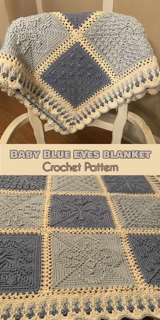 Baby Blue Eyes [Crochet Pattern] Stardust Melodies CAL Squares #crochet #lovecrochet #freepattern #crochetbaby