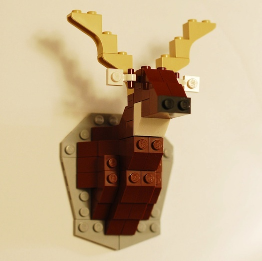 LEGO taxidermy