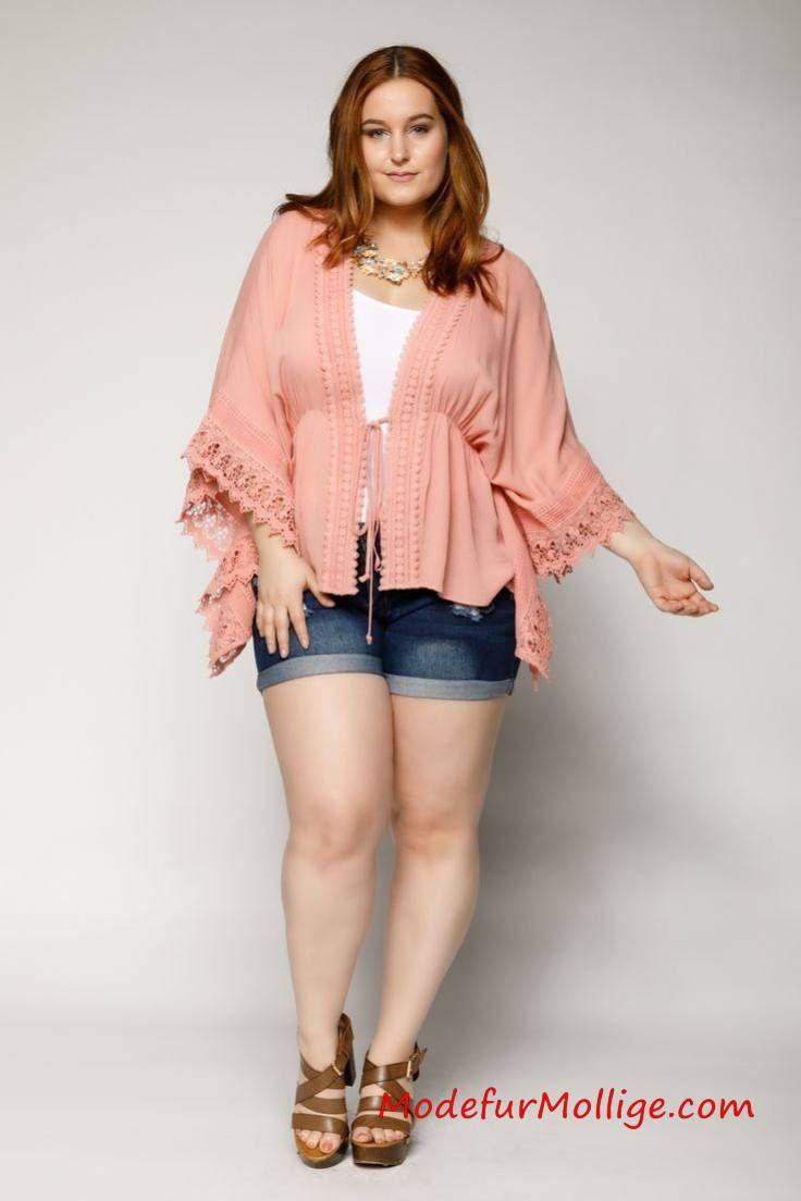 Jeans Shorts – Mode inGroße Größen Styling Tipps für Mollige Frauen   Mode für Mollige Frauen – #GroßenGrößen #modefürmollige #damenmode #outfit