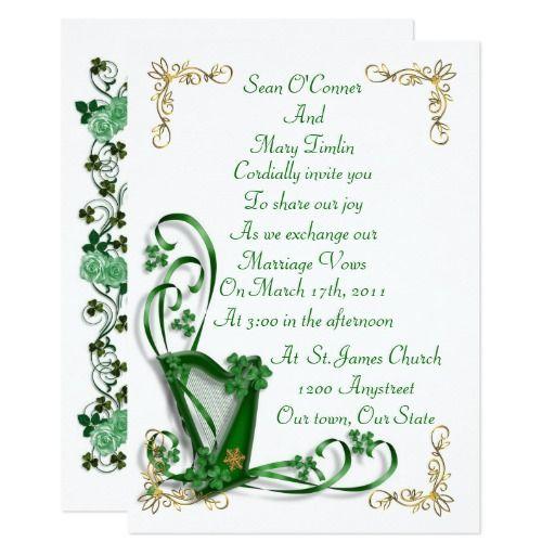 37 best irish wedding invitations images on pinterest