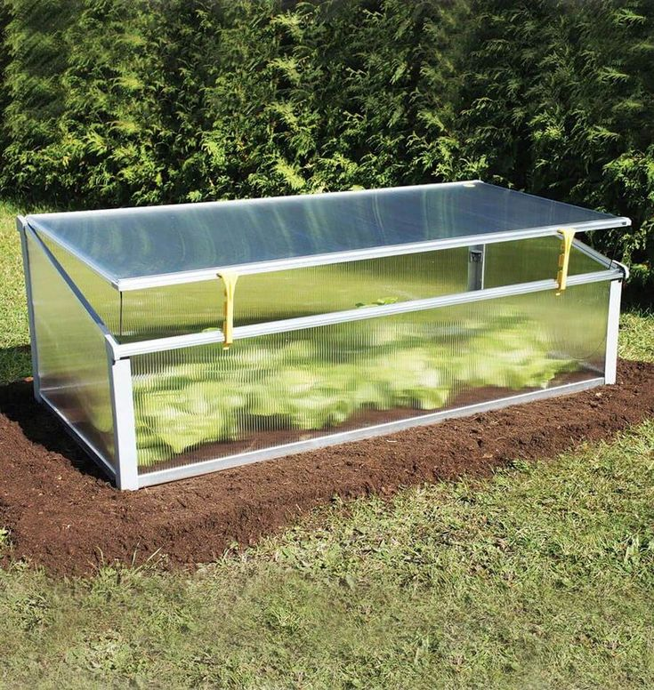 Juwel Year Round Cold Frame Crop Protection snaps together in minutes for instant old frame protection. The lid can be adjusted for ventilation or warmth.
