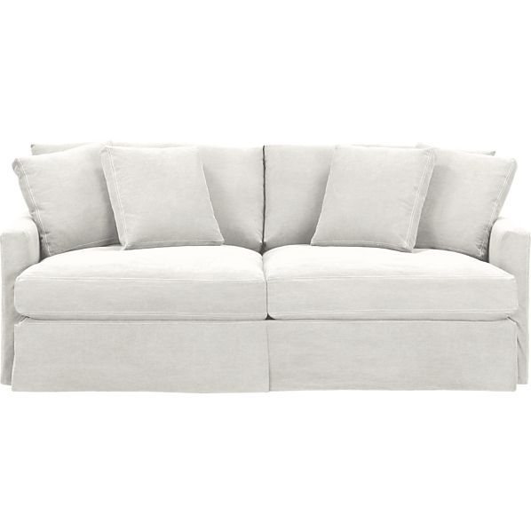 46 D 1899 Crate And Barrel LoungeSlpSofa83DnmDoveS13