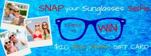 Snap your Sunglasses Selfie and enter for your chance to win $120 Vision Source Gift Card that can be used at our Rushmore Mall, Downtown Rapid City, Hot Springs, and Philip, SD locations! Vote for your favorite selfie by 7/17/2015 and the winner with the most votes wins! #sunglasses #selfie #visionsourcespecialists https://visionsourcespecialists.com/sunglasses-selfie/